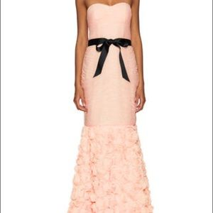 JS Collections Dresses - JS Strapless Rossette Gown